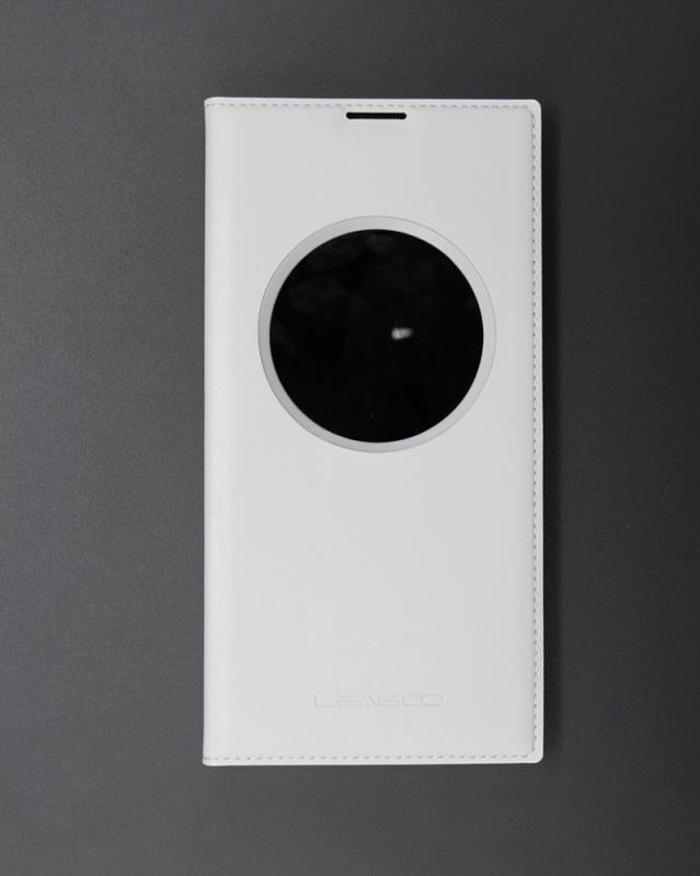 Originální flipové pouzdro Leagoo Elite 3 S-View bílé