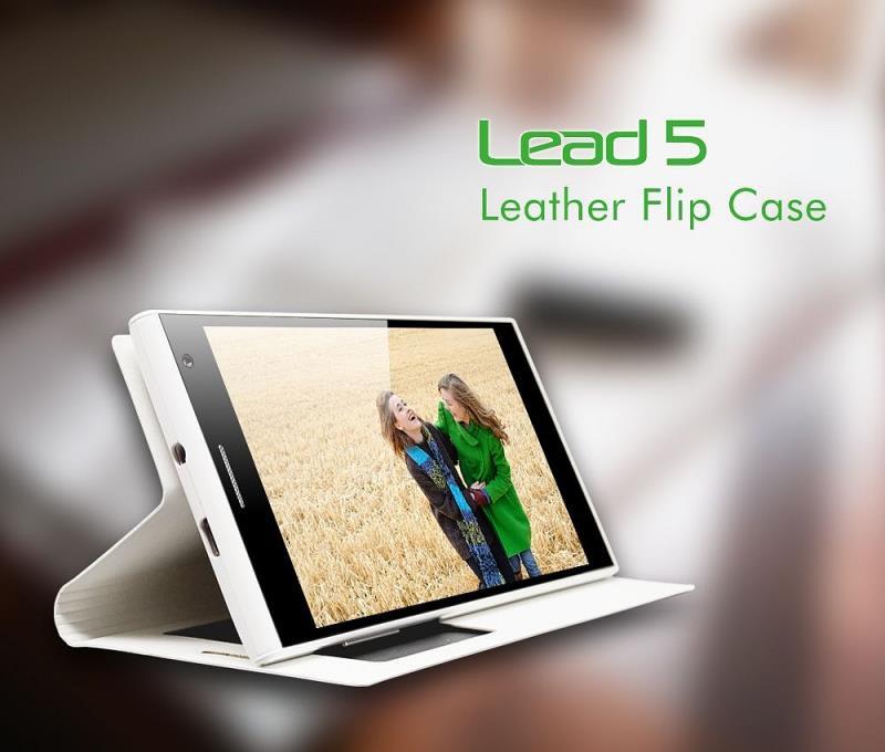 Originální flipové pouzdro Leagoo Lead 5 S-View bílé