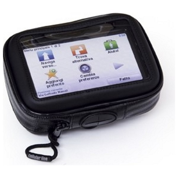 """Voděodolné pouzdro Interphone SM35 na 3,5"""" telefony a GPS s držákem černé"""