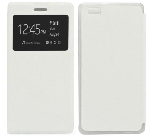 Pouzdro Forcell S-View pro Huawei P8 bílé