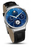 Huawei Watch W1 Stainless Steel,  Black Leather