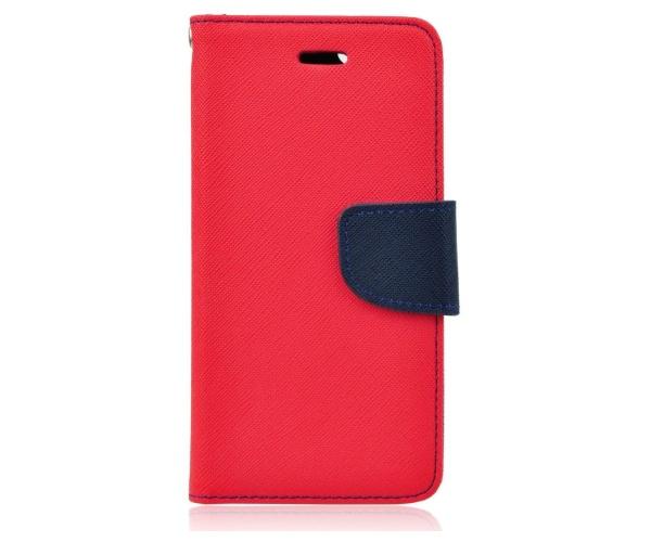 Pouzdro Fancy Diary Book Alcatel Idol C7 červeno/modrá (BULK)