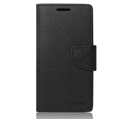 Pouzdro Fancy Diary Book Alcatel Idol C7 černá (BULK)