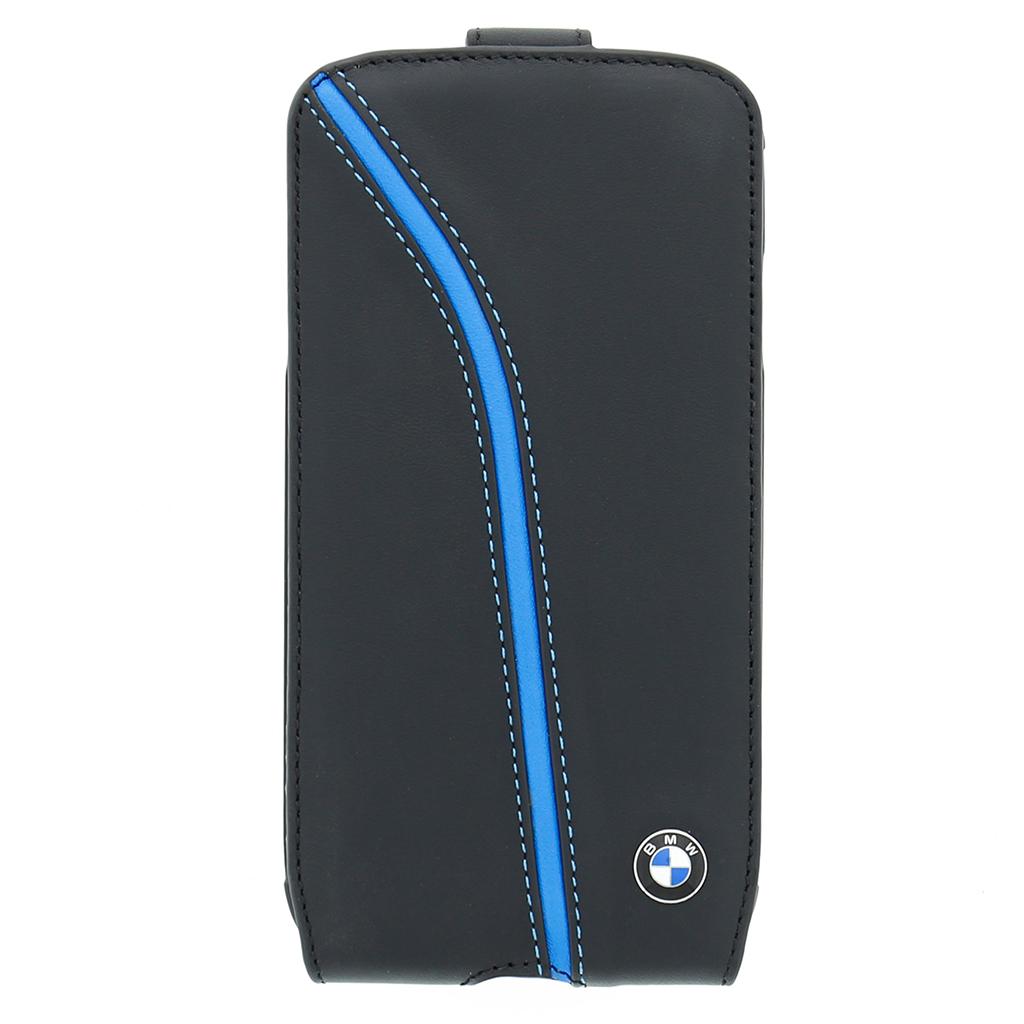 Pouzdro BMW Singature Seat Flip pro Samsung i9505 S4 BMFLS4PIB černé