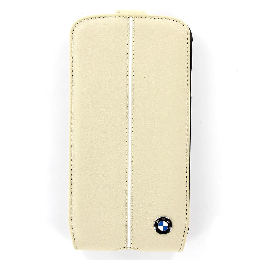 Pouzdro BMW Flip pro Samsung Galaxy S4 (EU Blister) BMFLS4LC béžové
