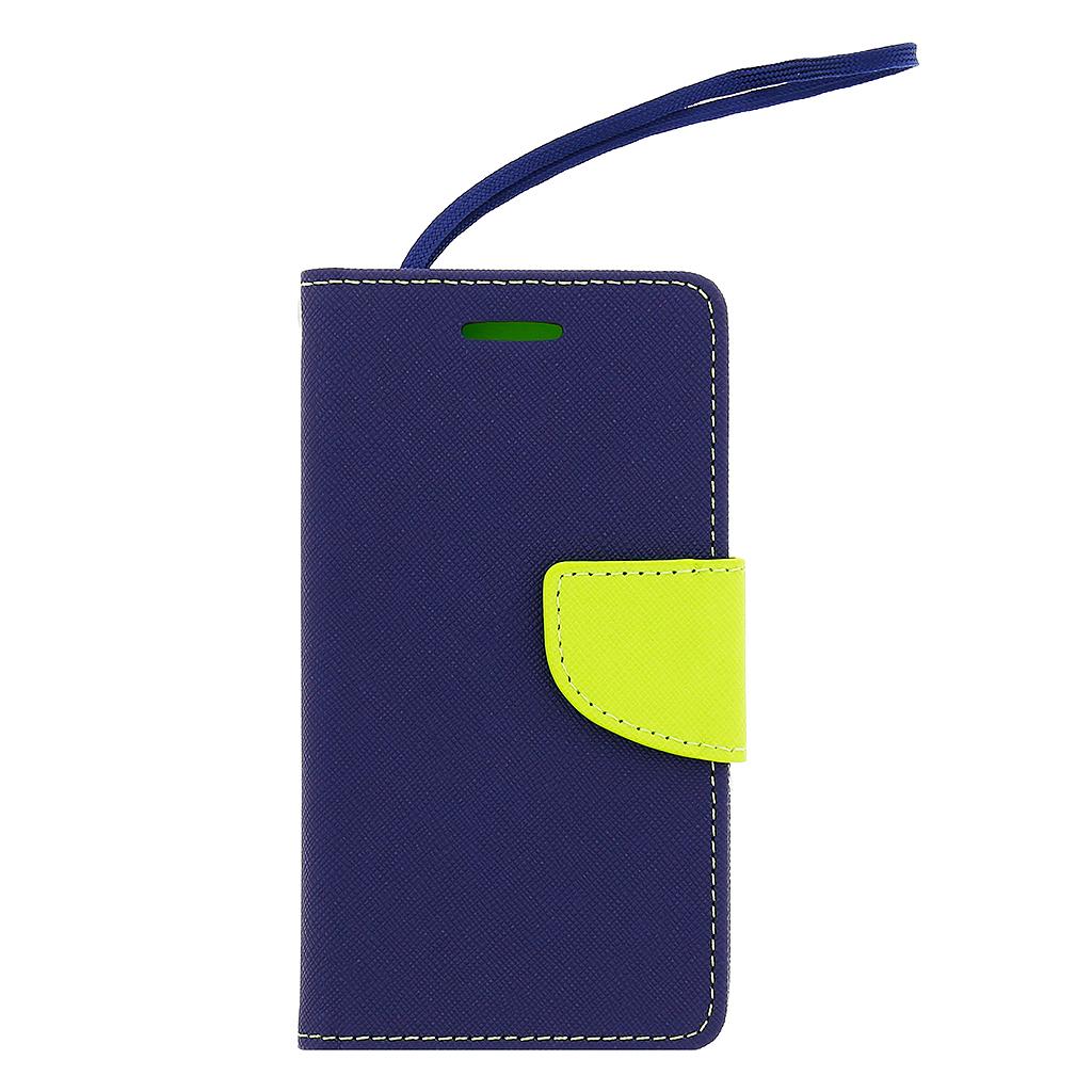 Pouzdro na mobil Samsung Galaxy J5 J500 Fancy Diary modrá/limetka