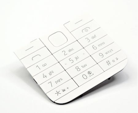 Klávesnice pro Nokia 225 Single SIM, white - VÝPRODEJ!!