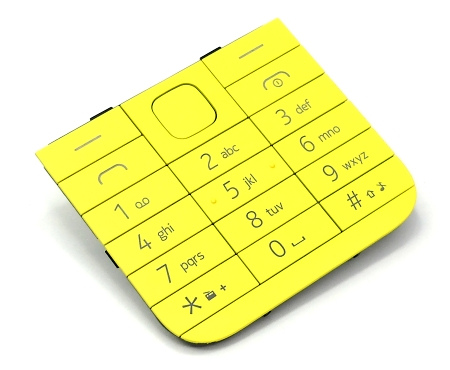 Klávesnice pro Nokia 225 Single SIM, yellow - VÝPRODEJ!!