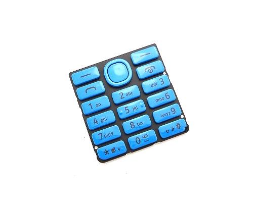 Klávesnice Nokia 206 DS, cyan/azurová