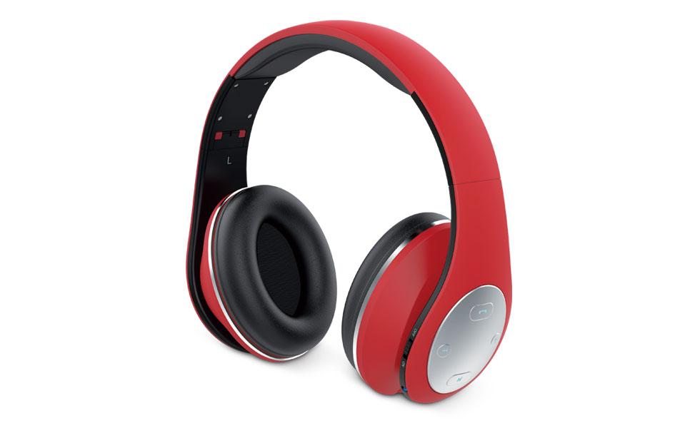 Sluchátka s mikrofonem GENIUS HS-935BT bluetooth červené