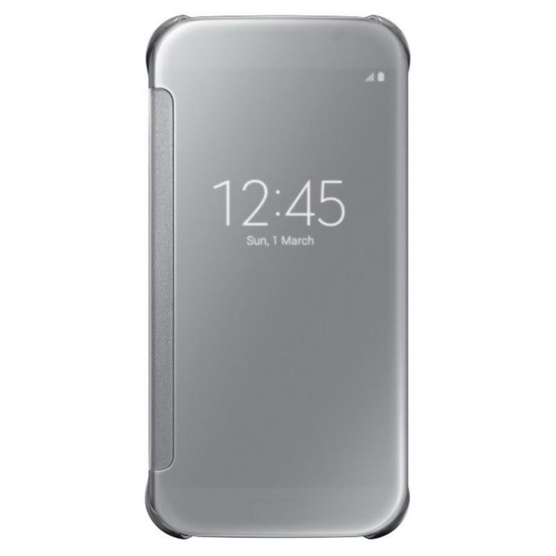 Samsung EF-ZG928CS Clear View flipové pouzdro pro G928 Galaxy S6 Edge+, Silver