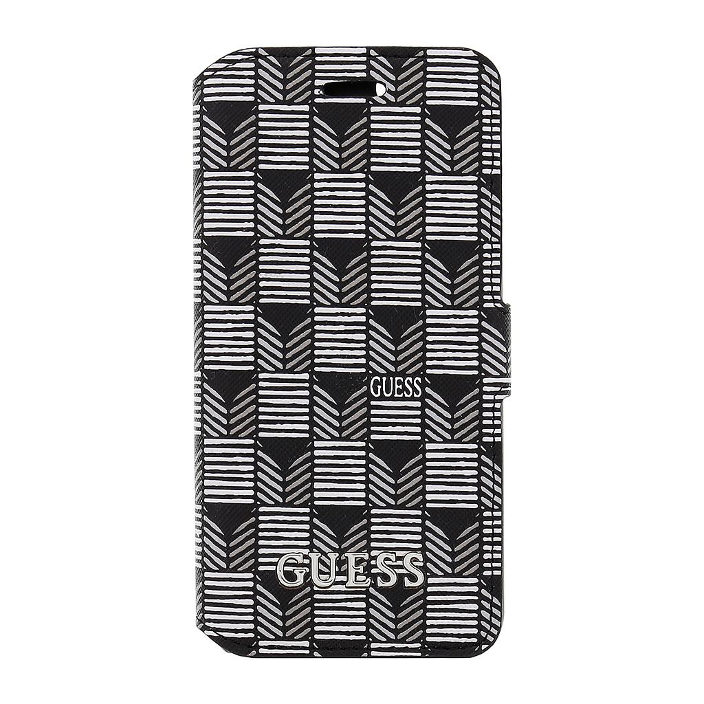 Pouzdro Guess Jet Set Book Case iPhone 6/6S černé GUFLBKP6JSBKS