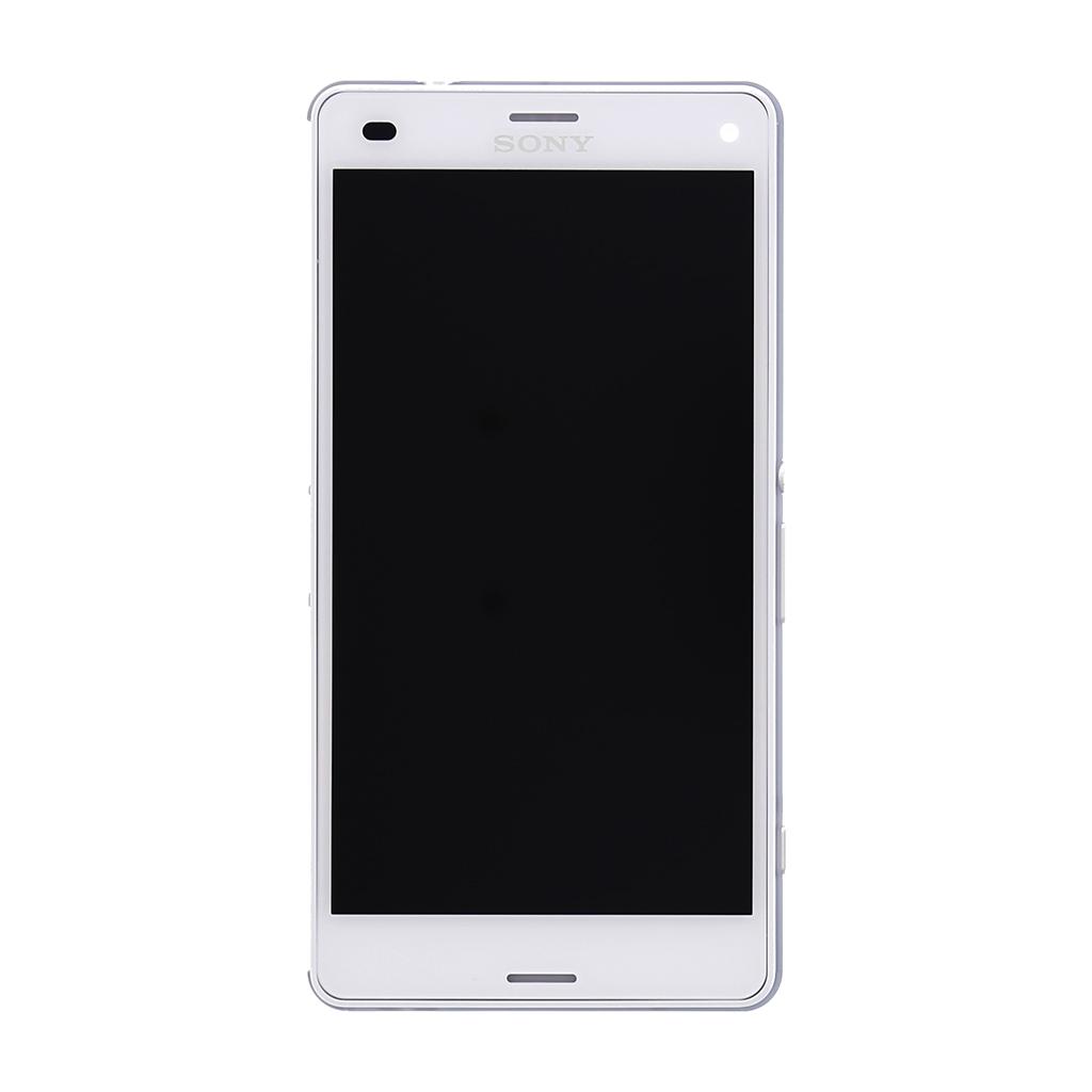 LCD display + dotyk. deska + př. kryt pro Sony Xperia Z3compact (D5803), (Service Pack) bílá
