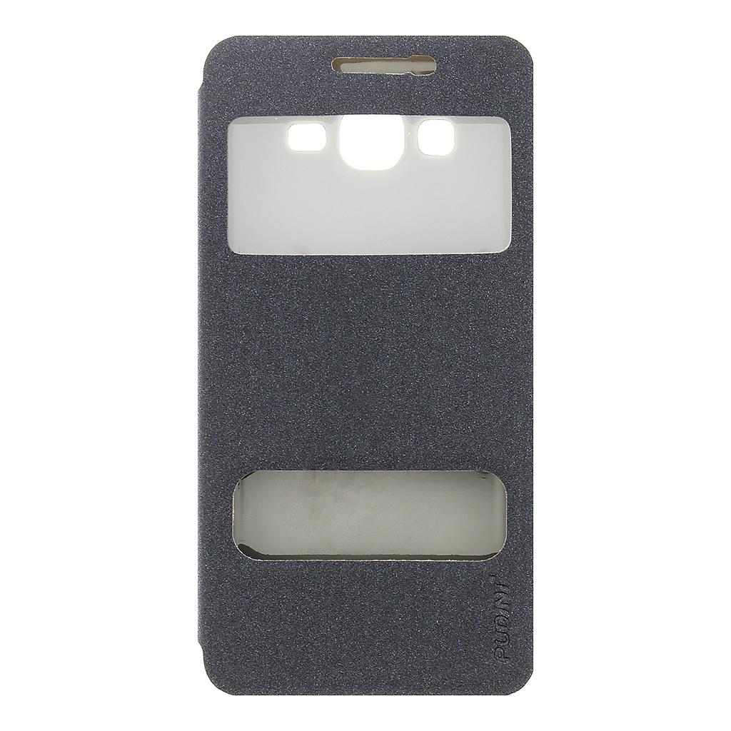 Flipové pouzdro pro Samsung J500 Galaxy J5 Pudini S-View černé
