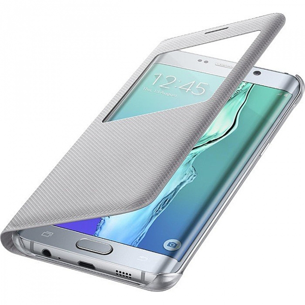 Flip,pouzdro na mobil Samsung Galaxy S6 Edge Plus G928, Nillkin Sparkle S-View stříbrné EF-CG928PSE
