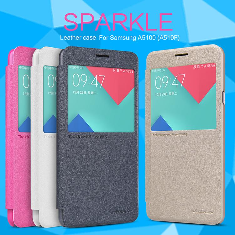 Flip, pouzdro na mobil Samsung Galaxy A5 A510 2016 Nillkin Sparkle S-View bílé