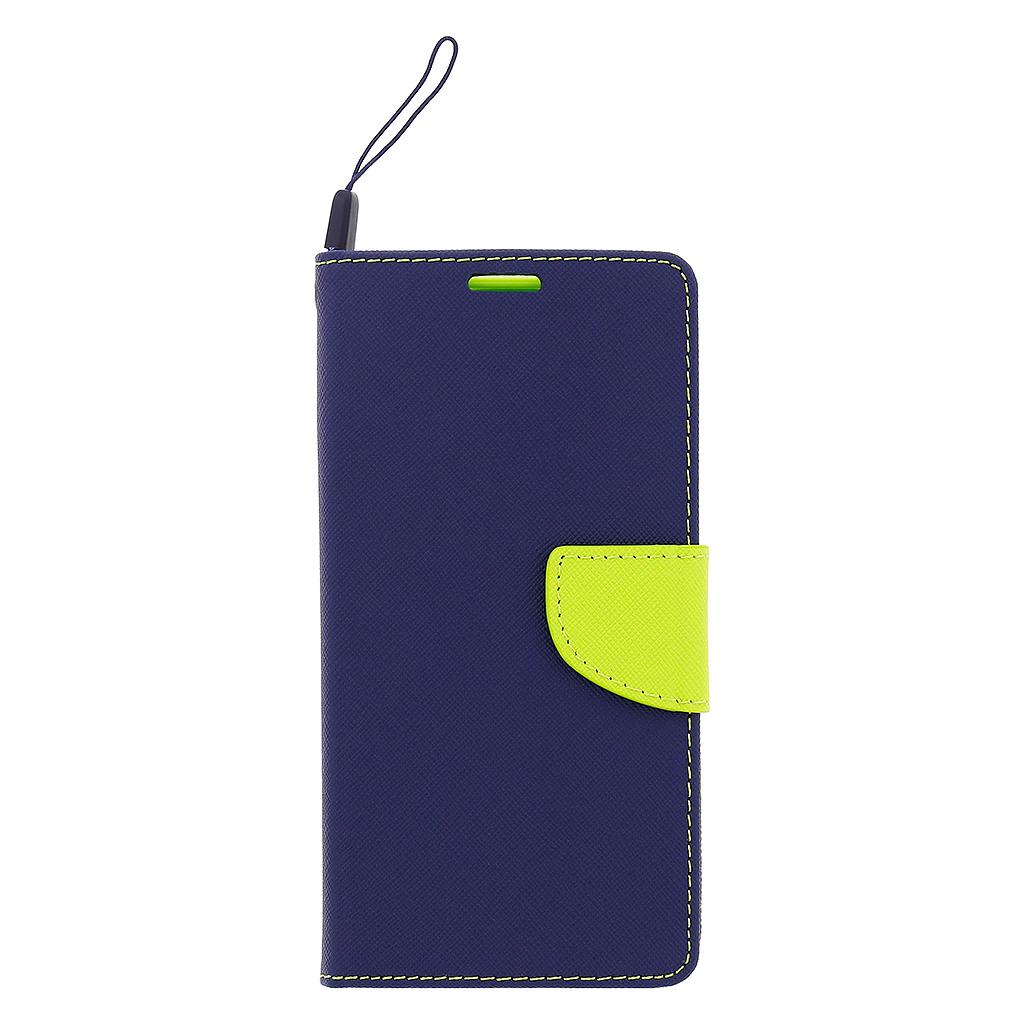 Pouzdro Fancy Diary Book pro Lenovo A7000 modro/limetkové