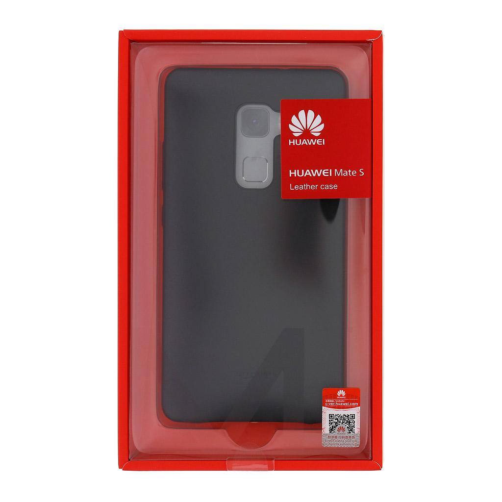 Zadní kryt original kožený pro Huawei Mate S, Black (EU Blister)