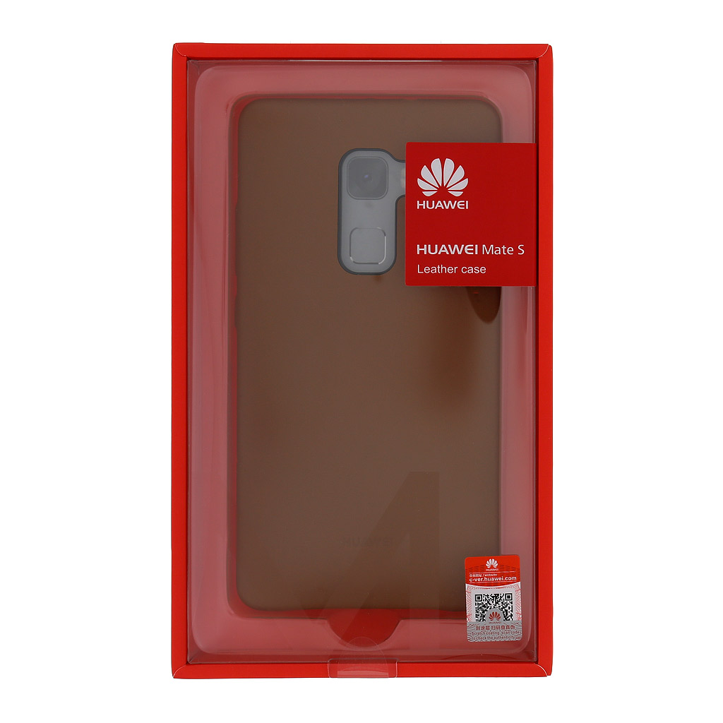 Zadní kryt original kožený pro Huawei Mate S, Brown (EU Blister)
