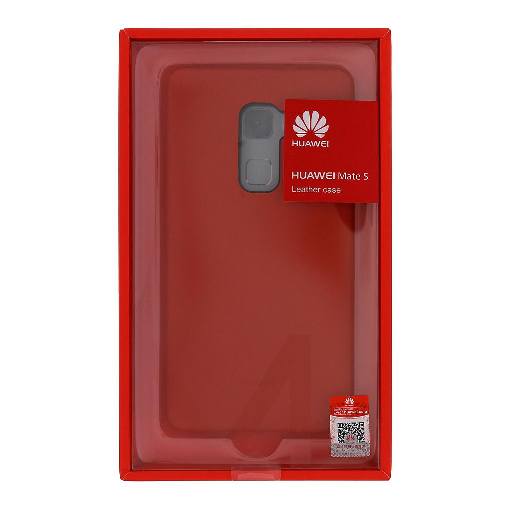 Zadní kryt original kožený pro Huawei Mate S, Red (EU Blister)