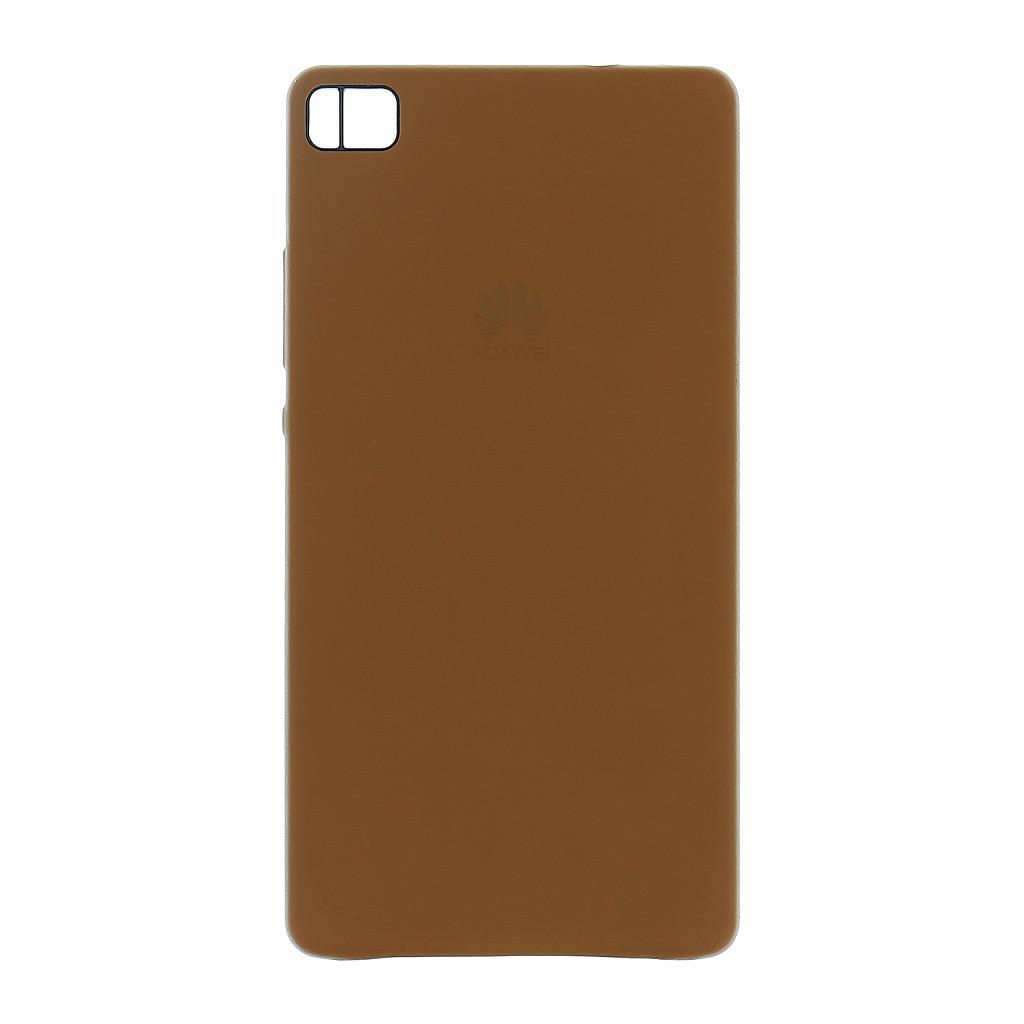 Zadní kryt original kožený pro Huawei P8, Brown (EU Blister)