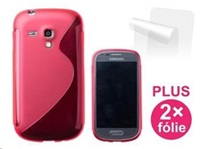 Pouzdro CONNECT IT na telefon Samsung Galaxy S III Mini (i8190) červené