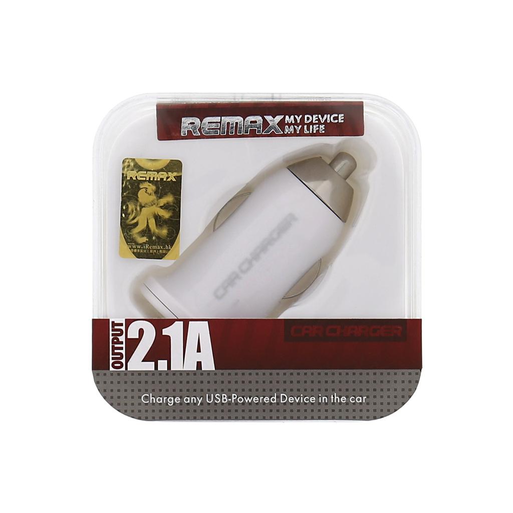 Autonabíječka Remax, USB, bílá
