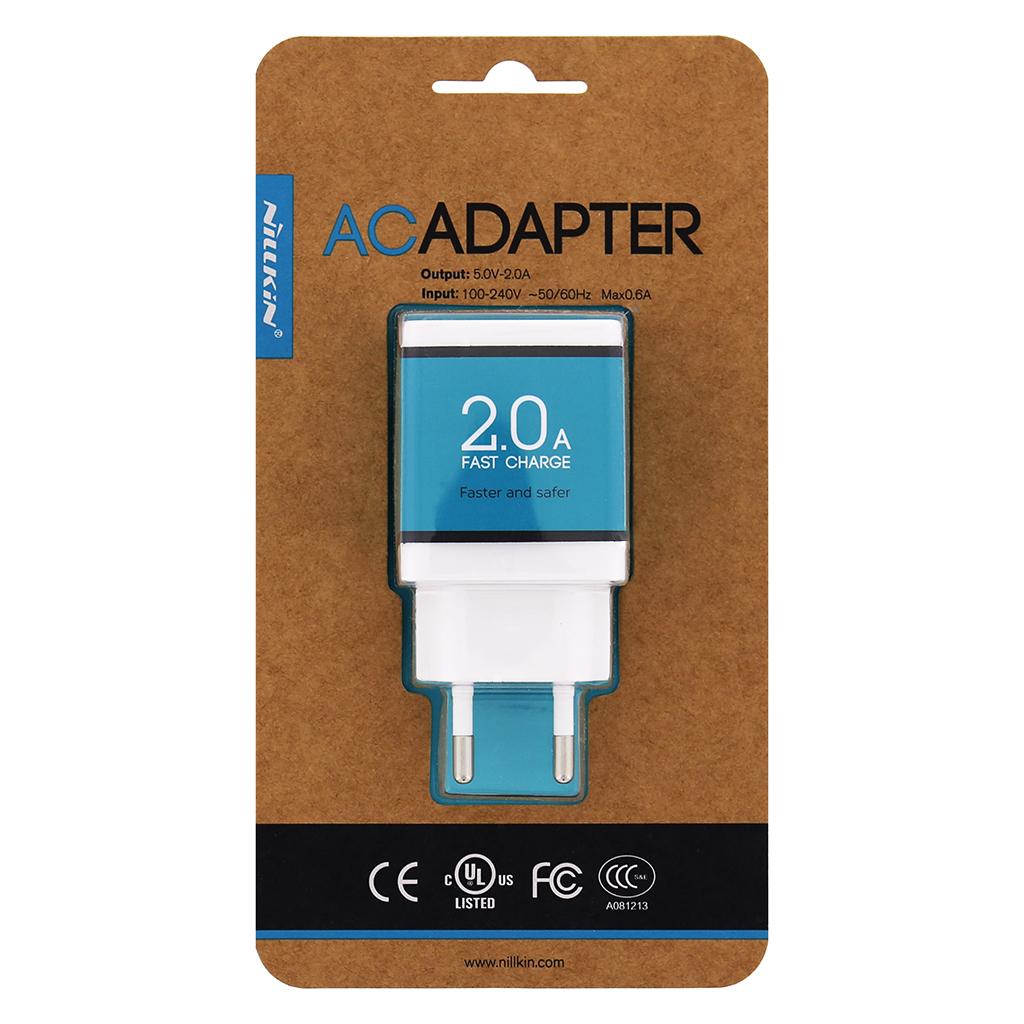 Cestovní nabíječka Nillkin Super Fast 2A, USB, bílá (EU Blister)