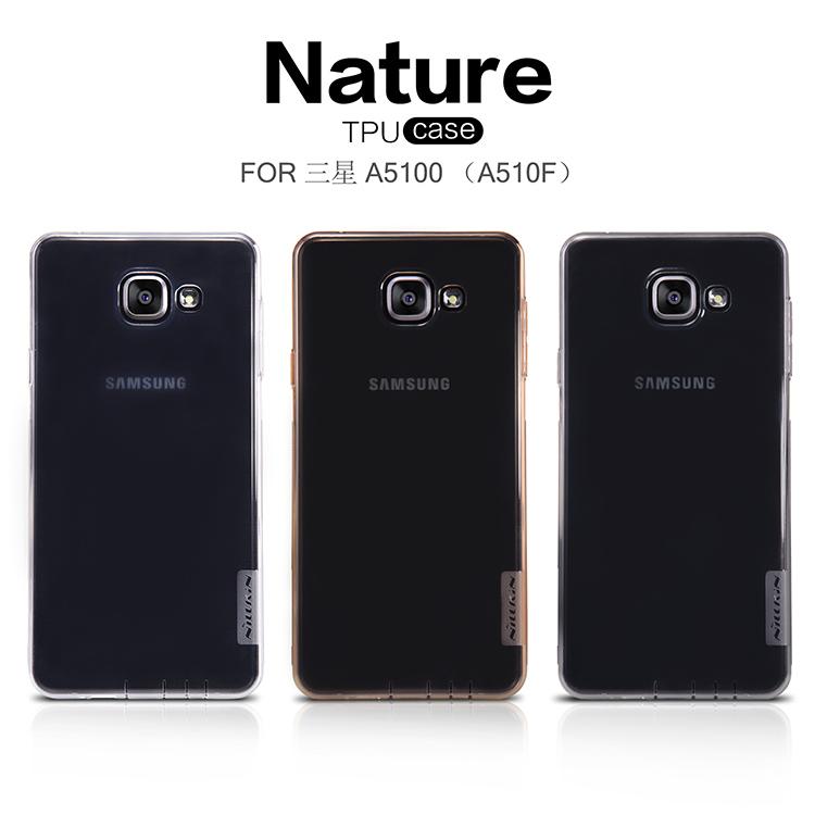 Silikonové pouzdro Nillkin Nature Samsung Galaxy A5 A510 2016 šedé