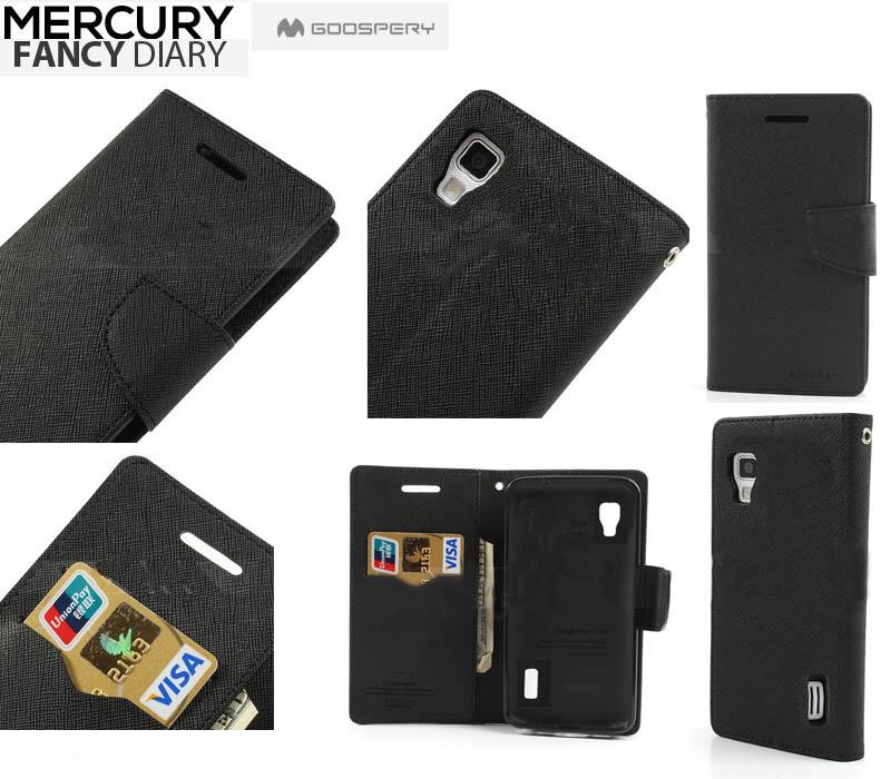 Flipové pouzdro pro Sony Xperia M5 Mercury Fancy Diary černé