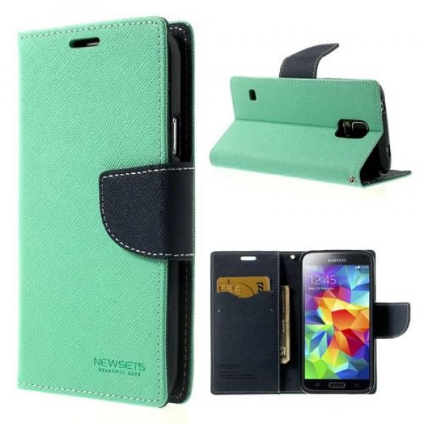 Flipové pouzdro pro Samsung Galaxy S7 Mercury Fancy Diary mentolovo/modré