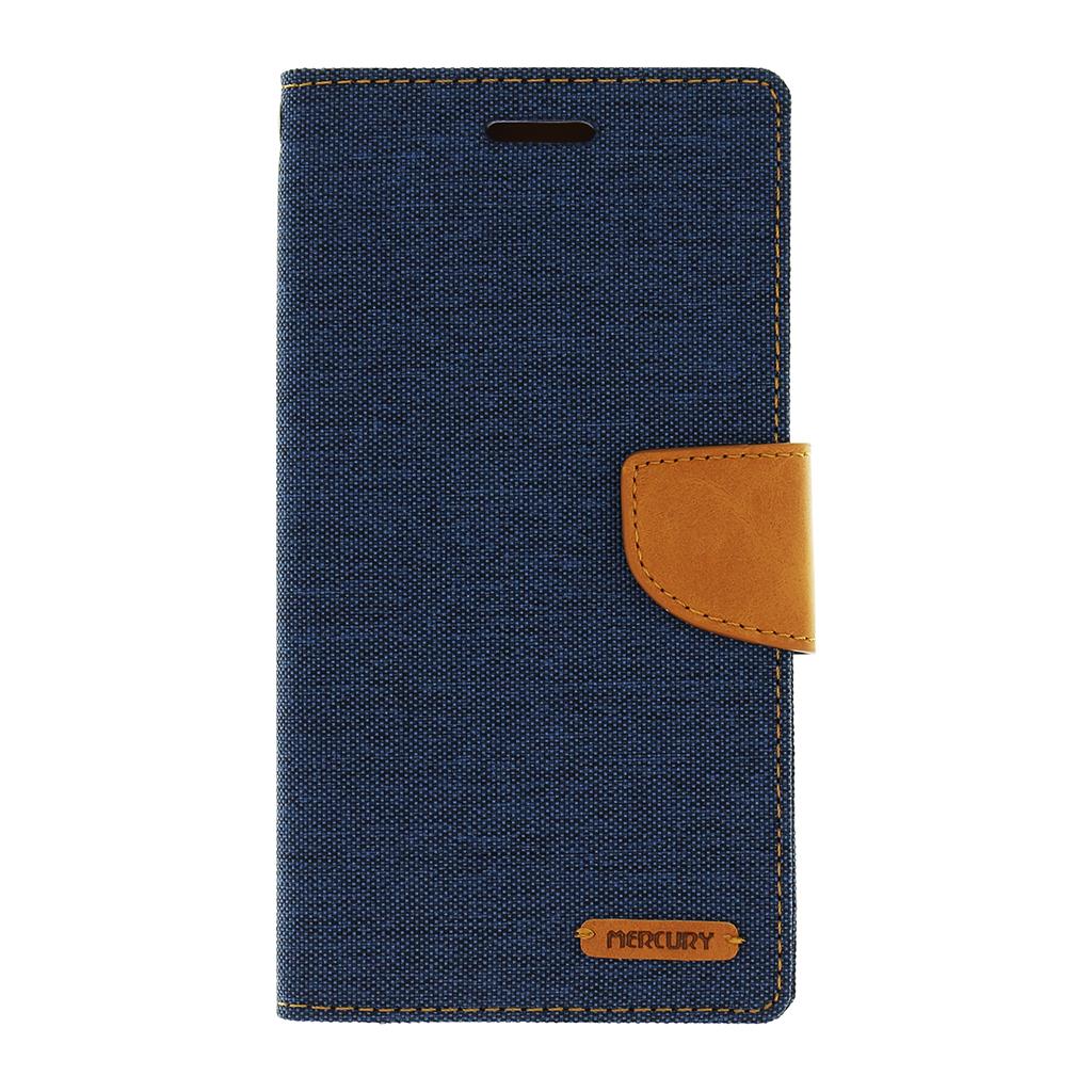 Flipové pouzdro pro LG H960A V10 Mercury Canvas Diary modro/hnědé