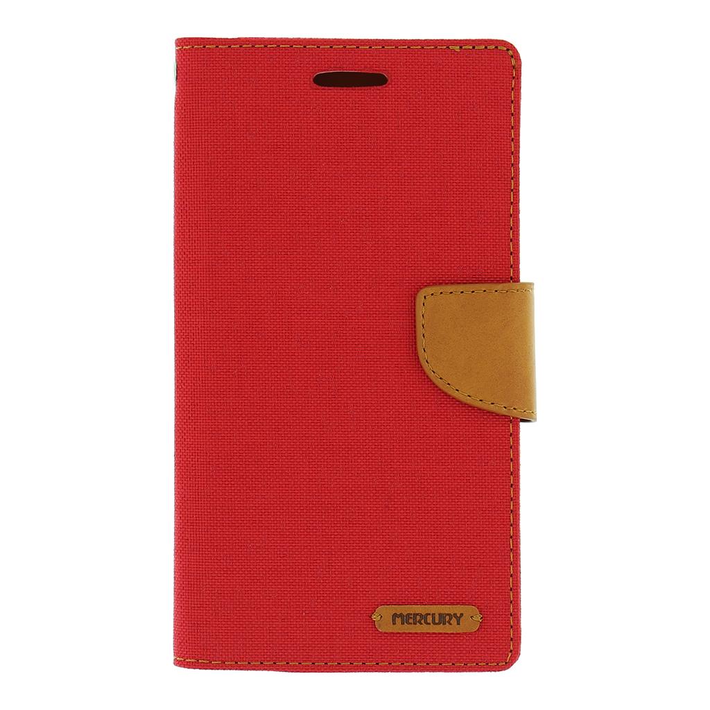 Flipové pouzdro pro LG H960A V10 Mercury Canvas Diary červeno/hnědé