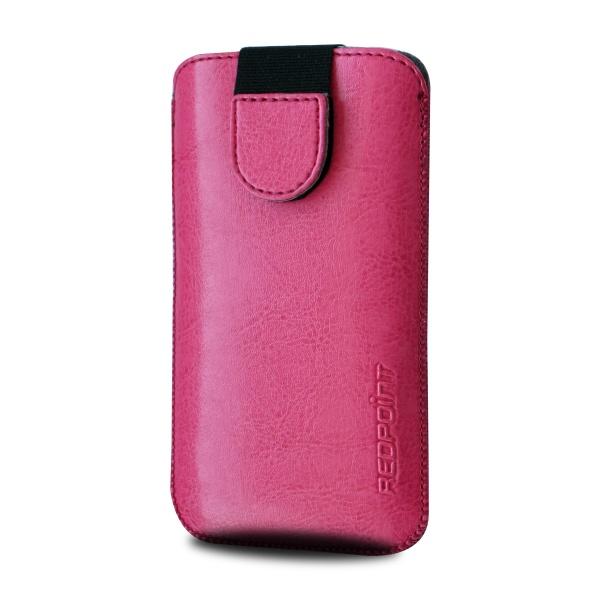 Pouzdro Redpoint Soft Slim se zavíráním, PU kůže, velikost 6XL, růžové