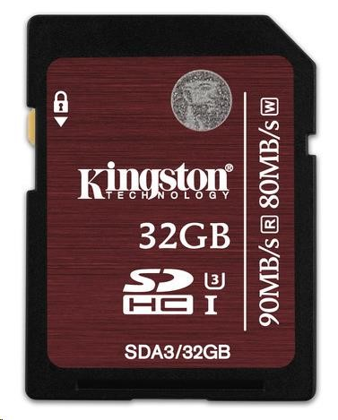 Paměťová SDHC karta Kingston UHS-I 32GB (Class 3)