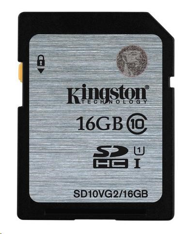 Paměťová SDHC karta Kingston 16GB Class 10