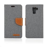 Aligator pouzdro BOOK FANCY pro Samsung Galaxy J1, šedá