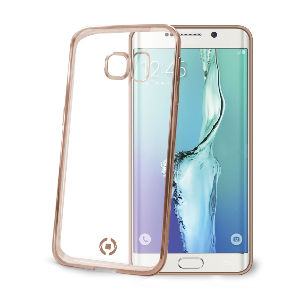 Silikonové pouzdro CELLY Laser pro Samsung Galaxy S7 Edge, zlaté