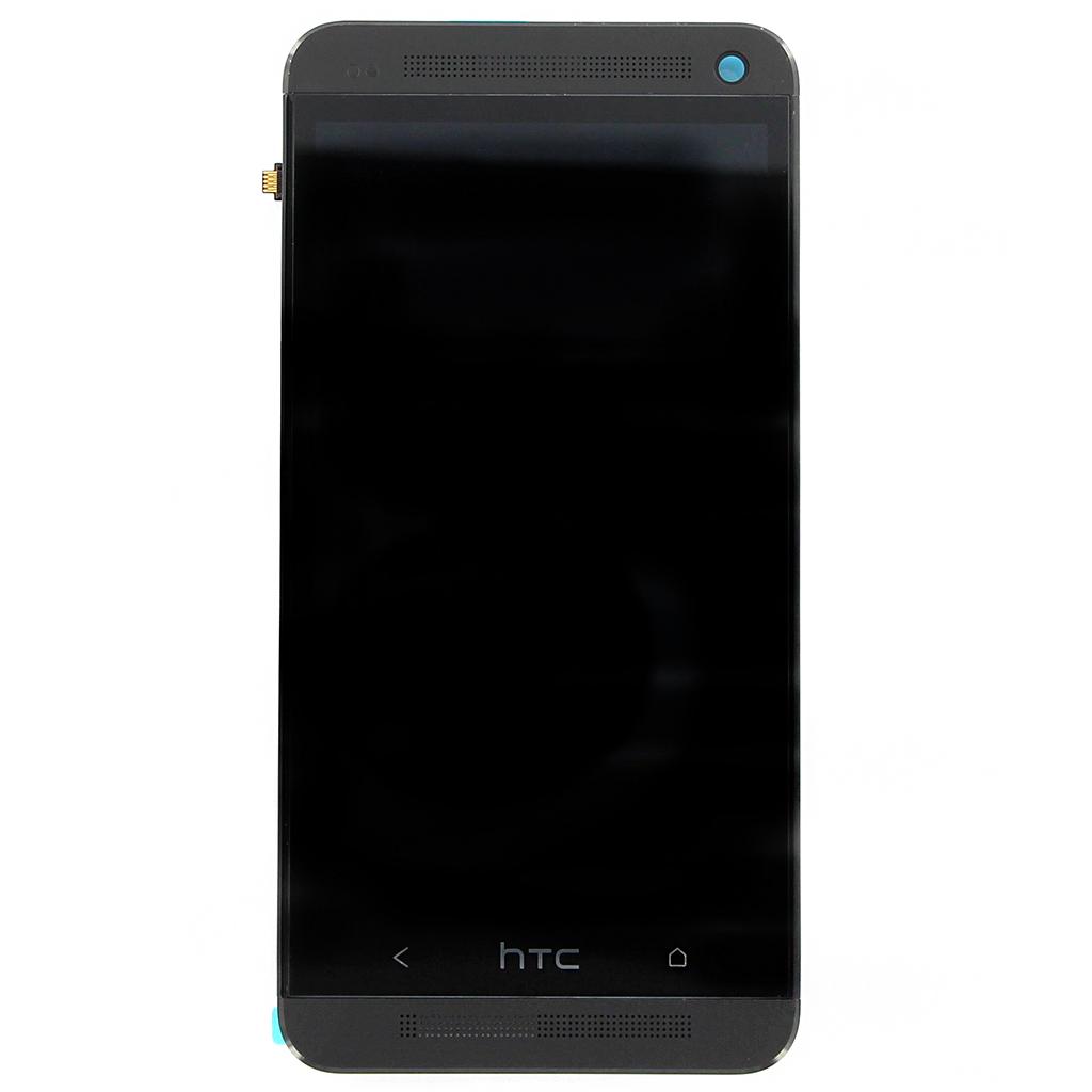 LCD display + dotyk. deska + př. kryt pro HTC ONE (M7), černá