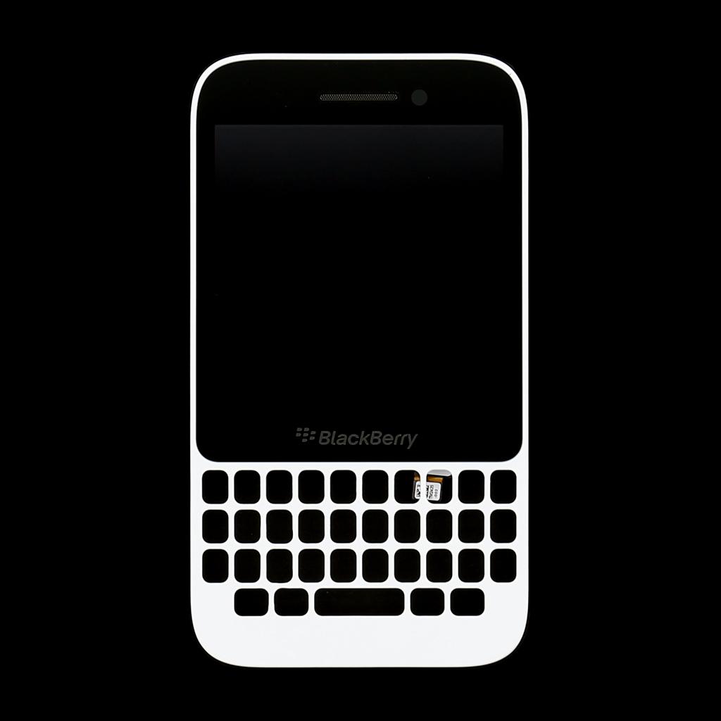 LCD display + dotyk. deska + př. kryt pro BlackBerry Q5, bílá