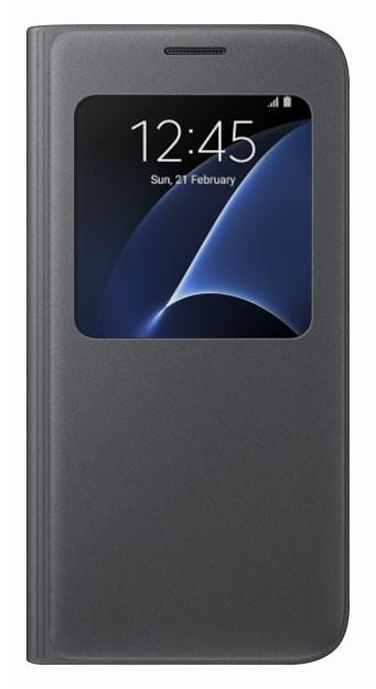 Flipové pouzdro EF-CG930PB S-View pro Samsung Galaxy S7, černé