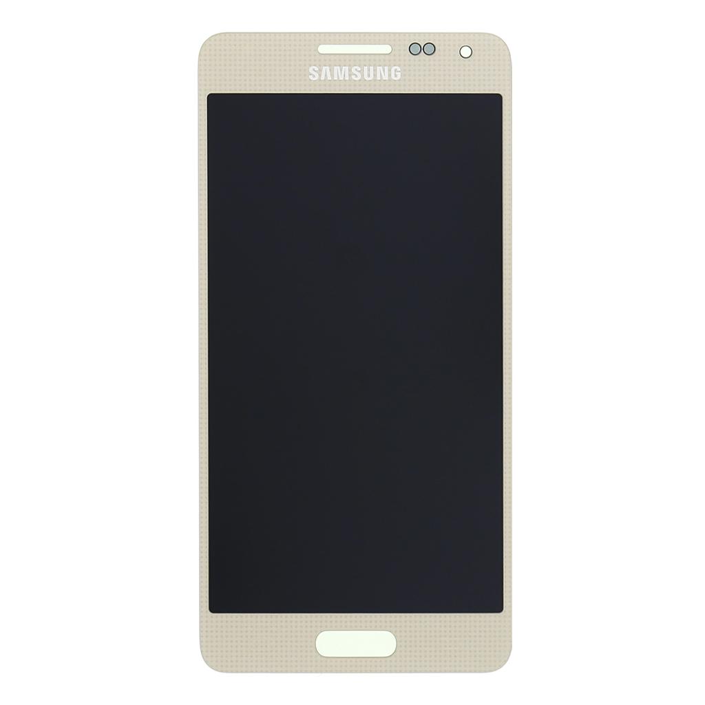 LCD display + dotyk. deska pro Samsung Galaxy Alpha (G850), zlatá
