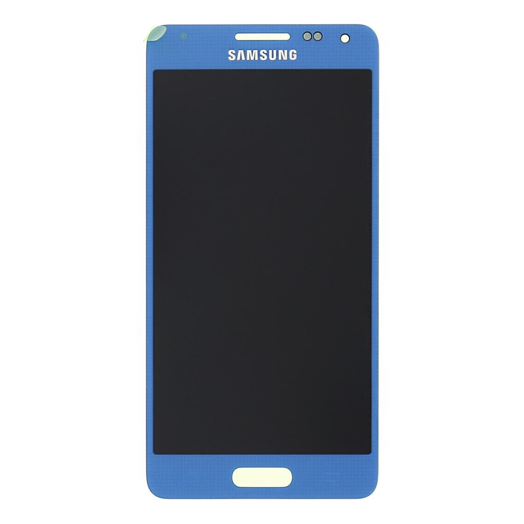 LCD display + dotyk. deska pro Samsung Galaxy Alpha (G850), modrá