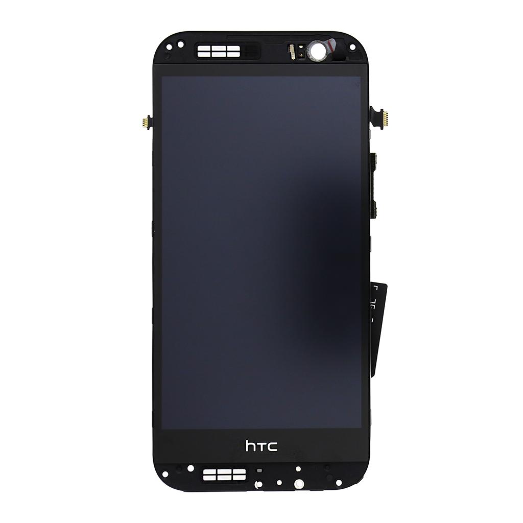 LCD display + dotyk. deska + př. kryt pro HTC ONE2 M8, zlatá
