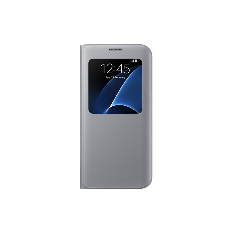 Flipové pouzdro S View Cover pro Samsung S7 Edge, stříbrné