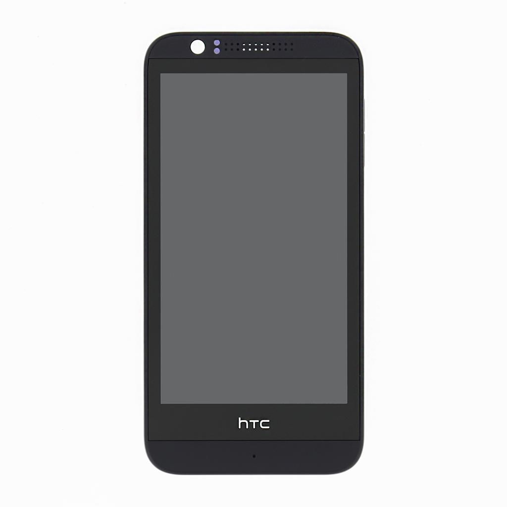 LCD display + dotyk. deska + př. kryt pro HTC Desire 510, šedá