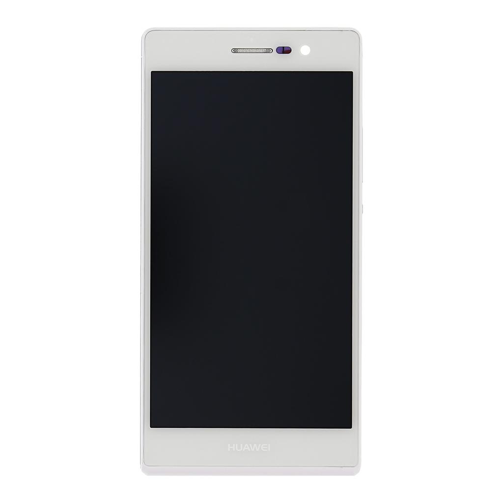 LCD display + dotyk. deska + př. kryt pro Huawei Ascend P7, bílá