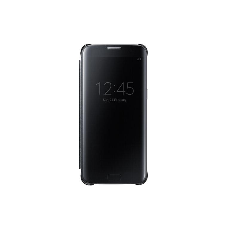Flipové pouzdro Clear View pro Samsung S7 Edge, černé