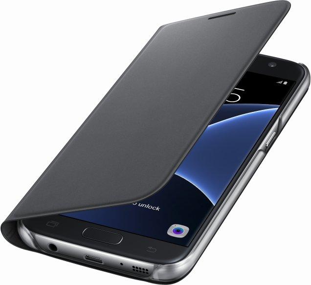 Flipové pouzdro typ peněženka pro Samsung S7 černé