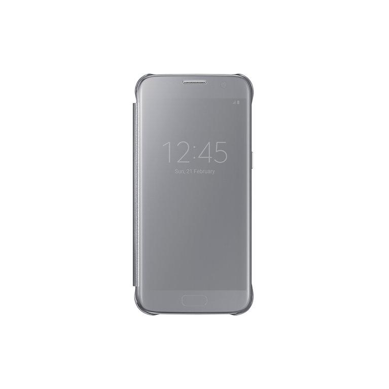 Flipové pouzdro Clear View pro Samsung S7 stříbrné
